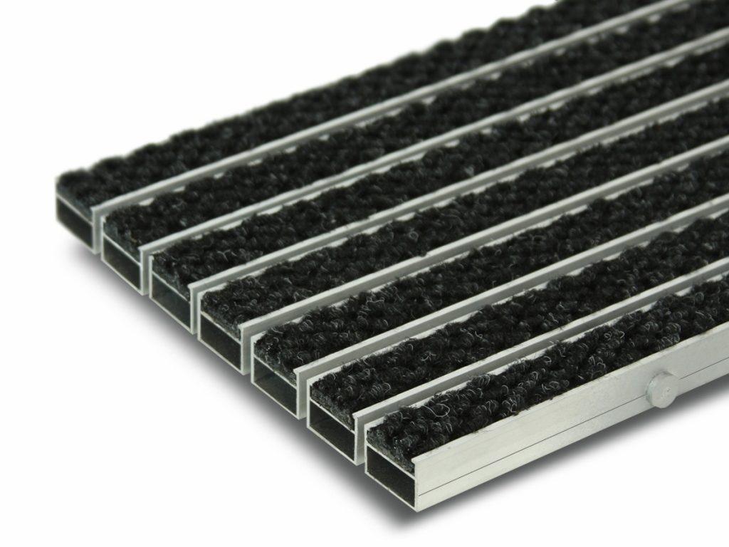 Грязезащитная алюминиевая придверная решетка Сату-Сити (ворс).